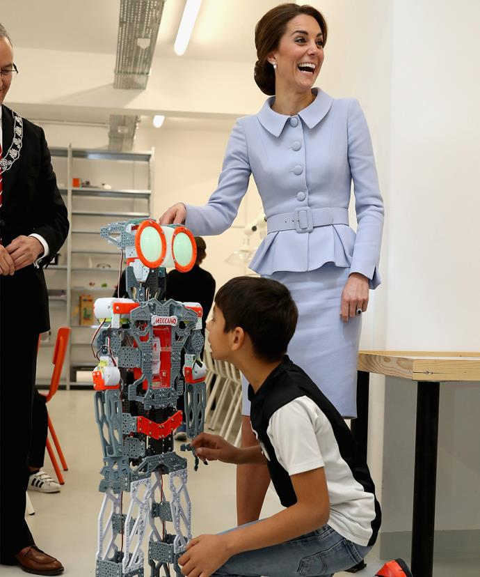 Duchess Catherine couldn't believe some of the projects children were working on.