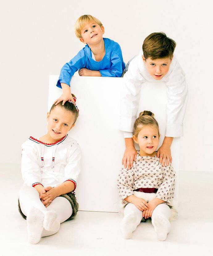 The couple's four children no doubt share a close friendship. (Via: Kongehuset)