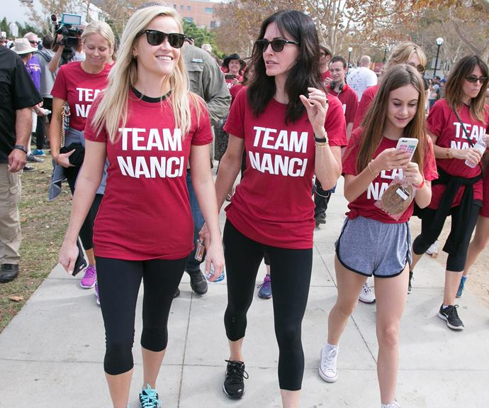 Team Nanci! Reese Witherspoon, Courteney and Coco all donned T-shirts to support Nanci Ryder, who suffers from ALS.