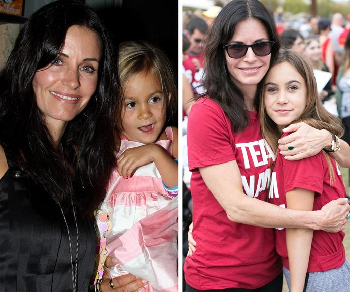 Now and then! The actress says her daughter is very musical and has a great voice.