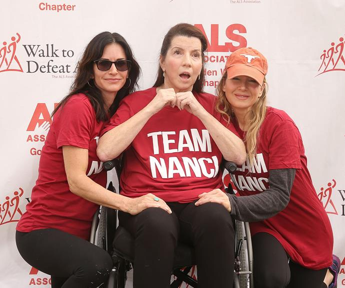 Courteney and Renee take a photo with Nanci.