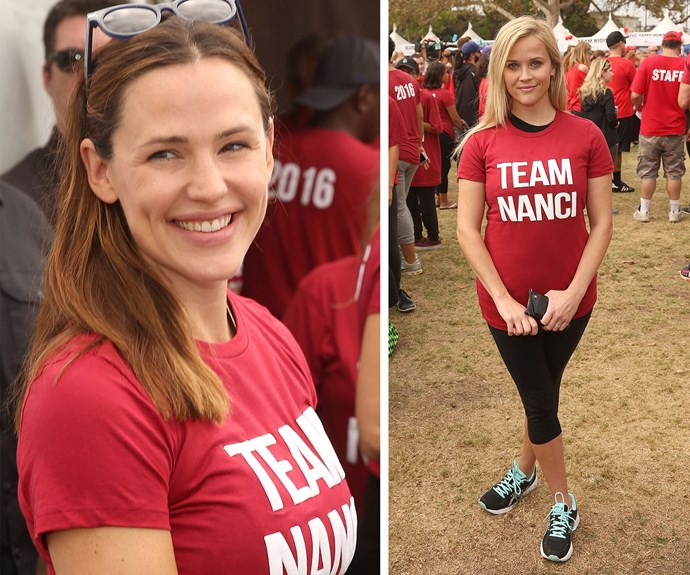 Jen Garner and Reese Witherspoon were in great spirits during the event.
