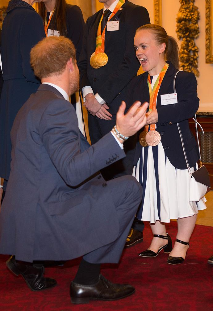 Prince Harry with Paralympic swimmer Ellie Simmonds.