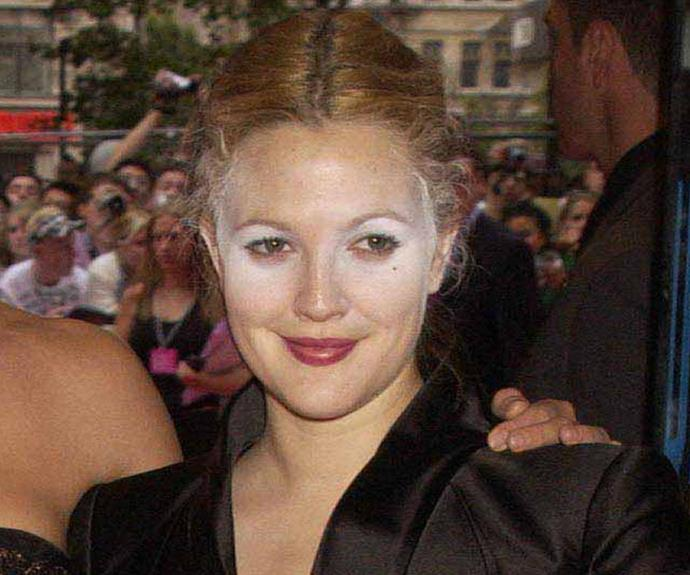 Not sure what Drew Barrymore was going for with this Black Swan-inspired look...
