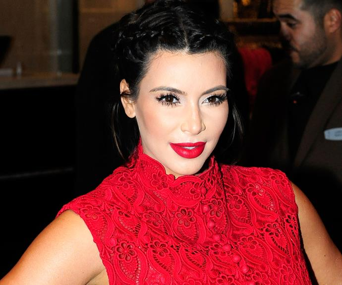 She's normally the queen of contour, but Kim Kardashian's usually on-point look fell a bit flat when she stepped out for a Los Angeles fragrance launch.