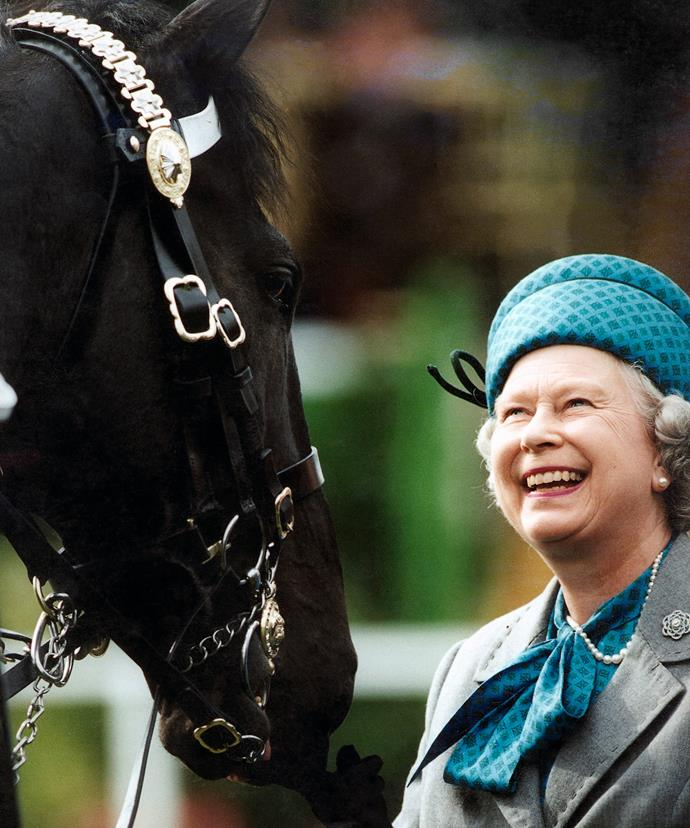 The Queen is a passionate horse rider and received her first pony at the age of four.