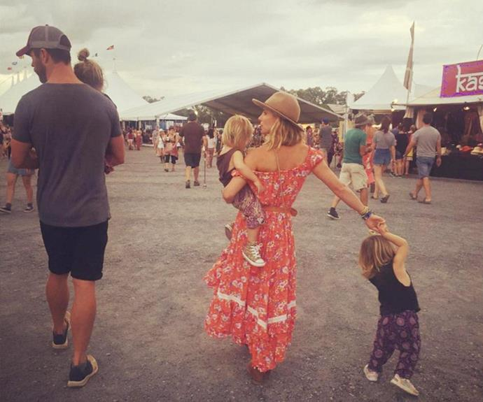 The actress recently took her three children to her native Spain without Chris.