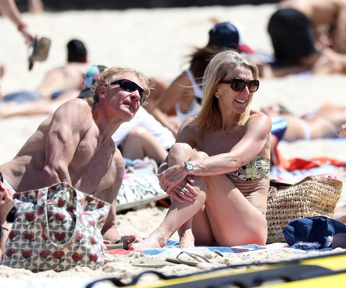 The 51-year-old recently hit up Bondi Beach with her husband Ian and eight-year-old twins Jimmy and Sammy.