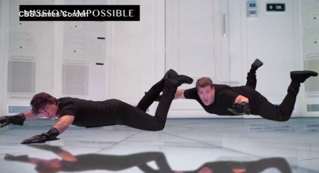 Tom and James, reliving the *Mission Impossible* dream.