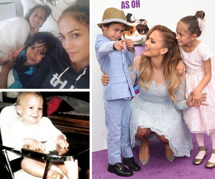 Jennifer Lopez's twins both bare a striking resemblance to the superstar, but it's daughter Emme who could 100 per cent pass for a young JLo. It's kinda crazy!