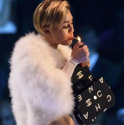 Miley smoked up a storm at the EMAs in 2013.
