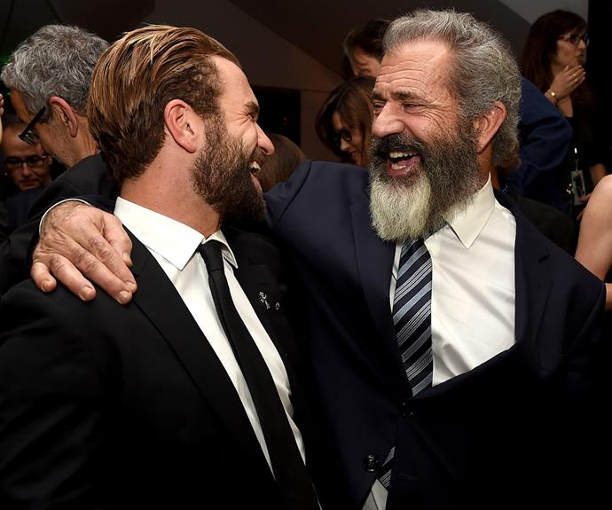 Mel and Milo shared a laugh and the *Hacksaw Ridge* premiere, which is his first major acting credit.