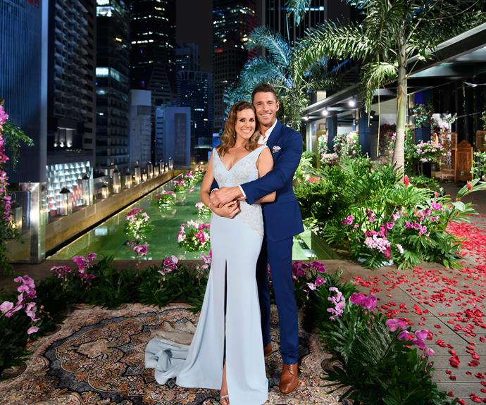 Beating the curse: Georgia and Lee have been together for two years. *(Image: Network Ten)*