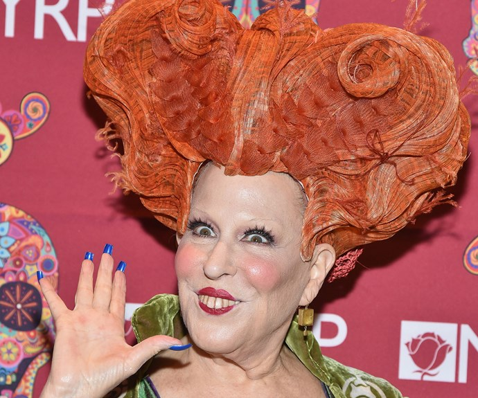 Bette Midler gave us a fright when she stepped out dressed as her *Hocus Pocus* character Winifred Sanderson.