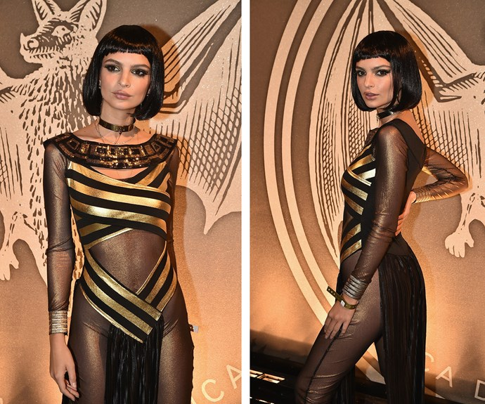 Model-slash-actress Emily Ratajkowski was the Queen of the Nile as she channelled Egyptian beauty Cleopatra.