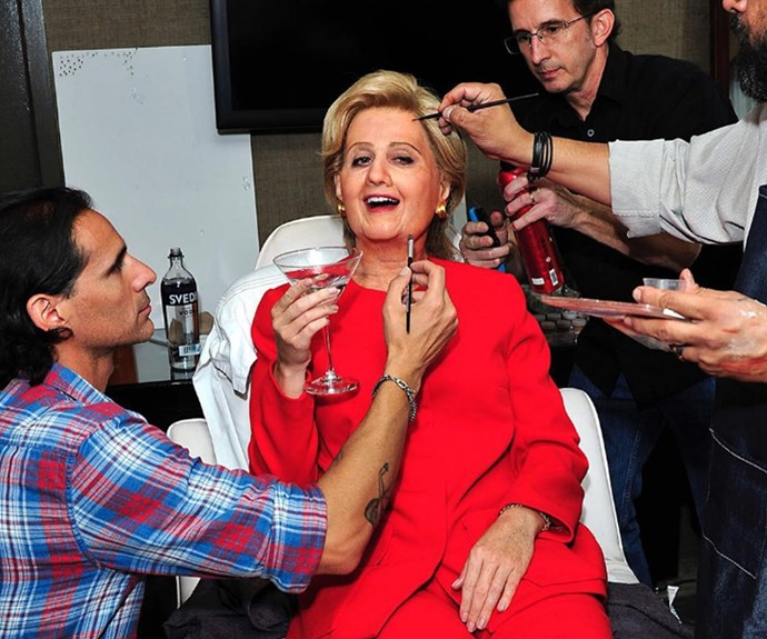 """""""Having a little pre-party before I take office #IMWITHME,"""" shared Katy in preparation for her big costume reveal."""