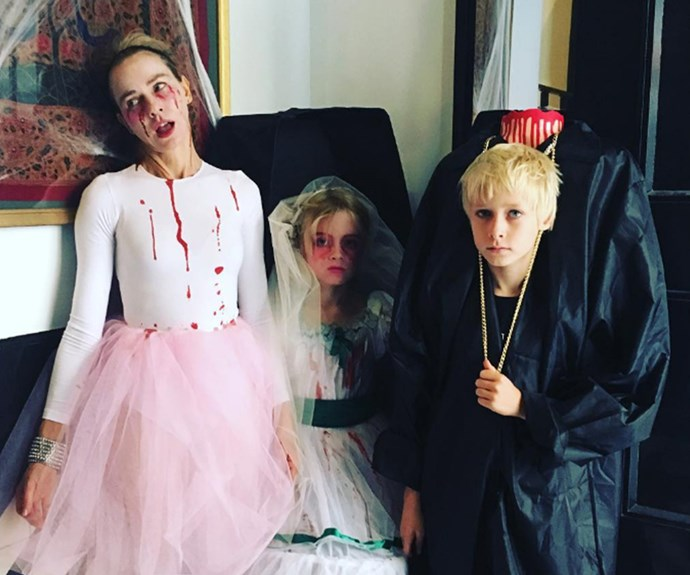 Naomi Watts and her spooky children got their fright on as a gory bunch!