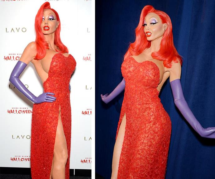 She's the undisputed Queen of Halloween thanks to her lavish party that she throws every year. And despite the always-impressive A-list guest list, Heidi Klum always manages to stand out thanks to her amazing transformations. Last year her incredible Jessica Rabbit costume took hours of prosthetic work to ensure her cartoonish features were spot on.