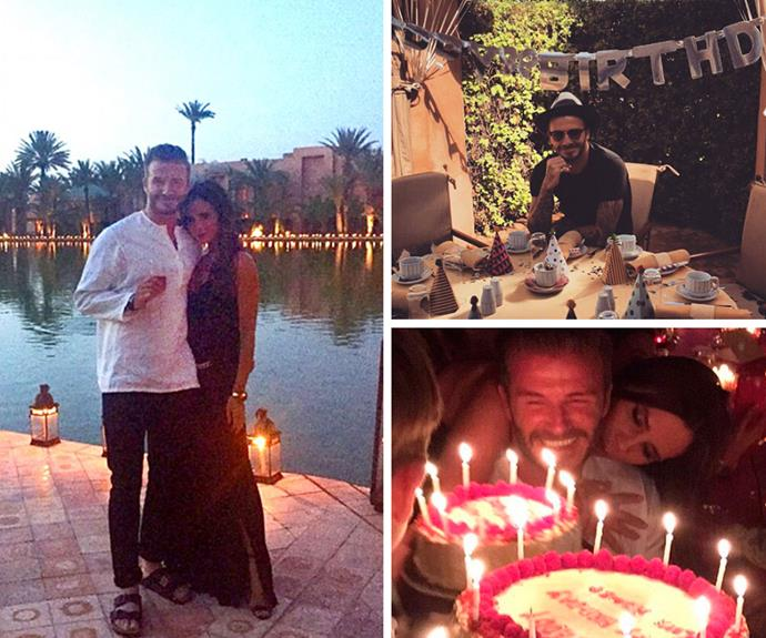 David Beckham jetted to Marrakech to kick-start his lavish 40th birthday celebrations. The retired soccer player and father of four was joined by his wife Victoria, their children, David's family and a few special guests...