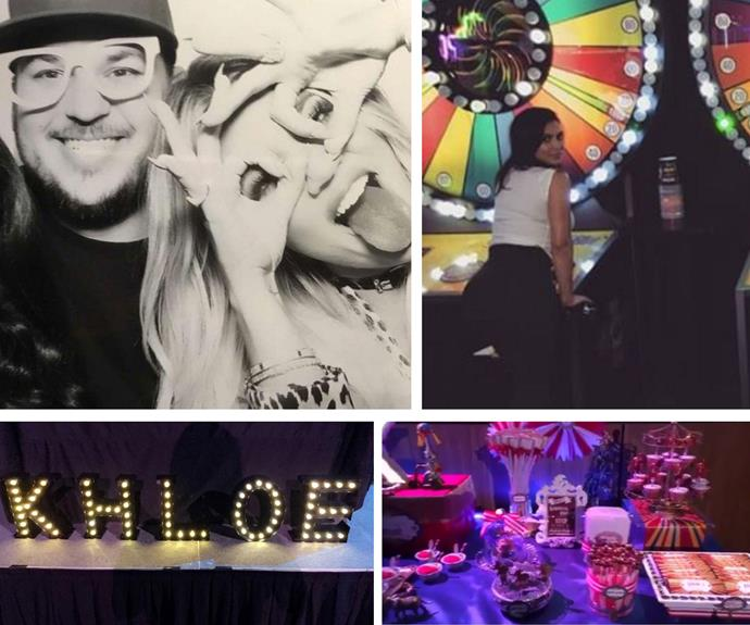 When you're part of one of the most successful reality TV dynasties of all time, you don't let a birthday pass without a big celebration. Khloe Kardashian's 32nd birthday was no exception. She booked out an arcade and invited her nearest and dearest to join her for some air hockey, carnival-themed snacks and lots of Snapchatting!