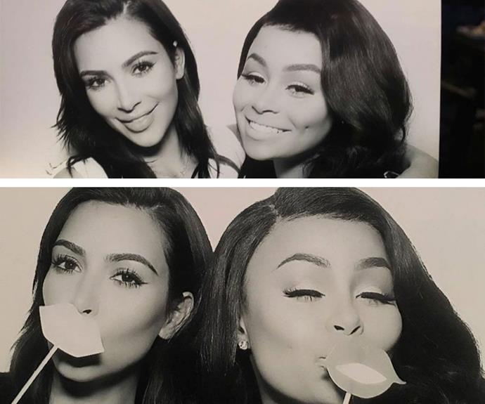 Big sister Kim and Blac Chyna posed up a storm.