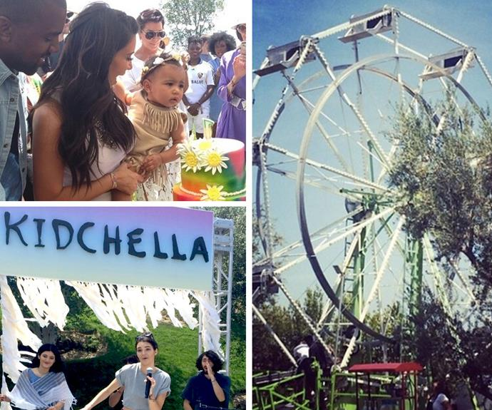 With Kim Kardashian and Kanye West as her parents, North West's first birthday party was never exactly going to be a low-key affair! Her Kidchella-themed bash probably made most adults jealous with its giant Ferris wheel, rainbow cake and karaoke by aunts Kendall and Kylie Jenner.