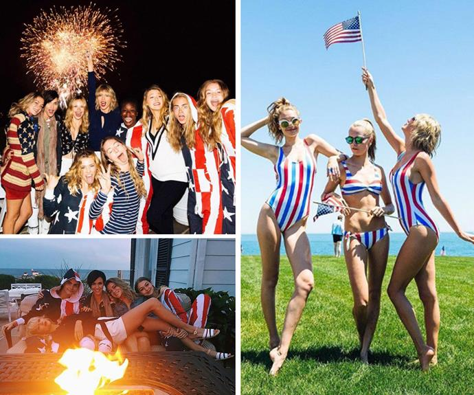 Taylor Swift left little doubt in anyone's mind that she's the best friend ever when she hosted an amazing 4th of July party at her Rhode Island home this year. The whole squad including Blake Lively, Ryan Reynolds, Gigi Hadid, Cara Delevingne, Ruby Rose and Karlie Kloss enjoyed ocean swims, inflatable water rides, fireworks and custom onesies.