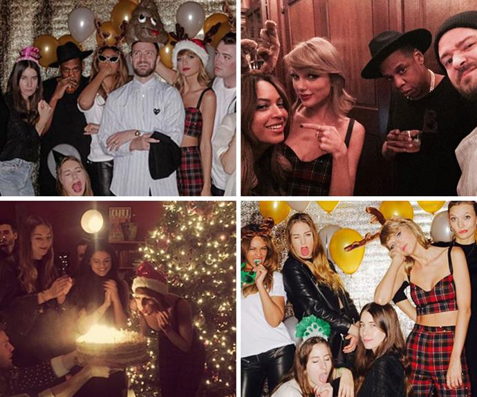 And it's not only Independence Day parties that Taylor excels at. Justin Timberlake, Beyoncé, Jay Z, Selena Gomez, Sam Smith and (so many) more joined the singer/squad leader to make her 25th birthday a memorable one.