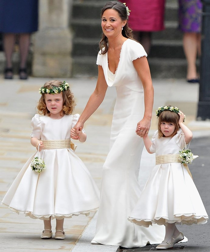Pippa memorably made her debut as bridesmaid for Kate in 2011.