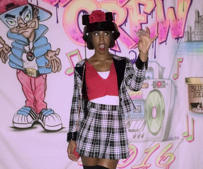 """""""Been shopping with Dr. Seuss?"""" Kelly Rowland wrote alongside her uncanny appearance as Dionne from the hit film *Clueless*."""