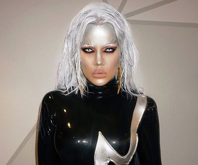 Khloe Kardashian was ice cold as the spitting image of Storm from *X-Men*.