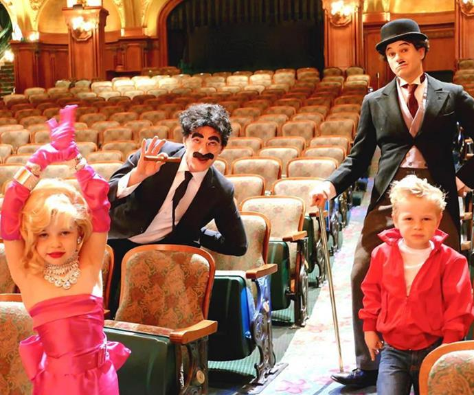 Neil Patrick Harris and his sweet family never miss an opportunity to dress up, and this year was no exception! The dads, dressed as Charlie Chaplin and Groucho Marx, posed alongside their kids Harper and Gideon, who put on their best impressions of Marilyn Monroe and James Dean.