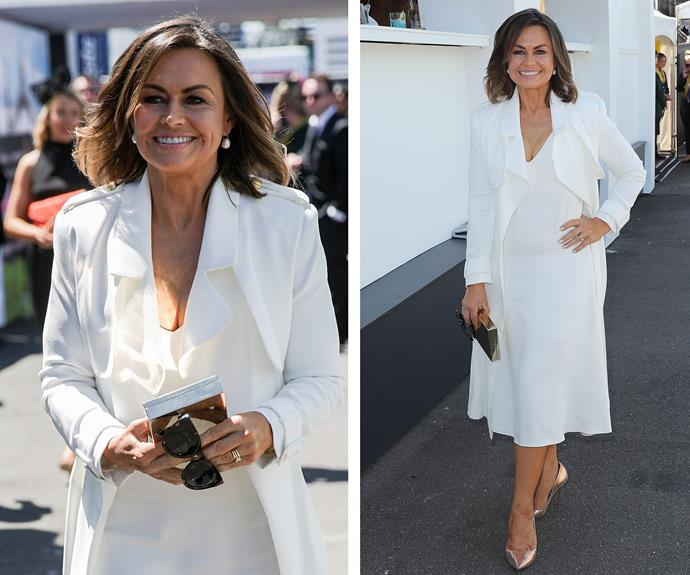 Lisa Wilkinson opted for an all-white-everything look.