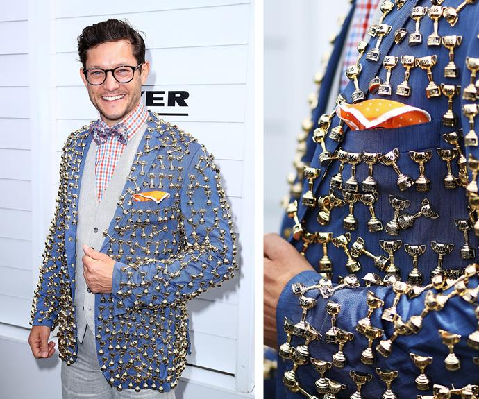 Rob Mills was a winner in a Melbourne Cup embellished blazer.