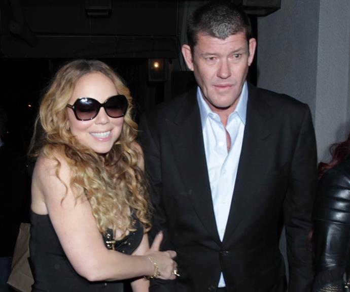 Mariah and James during happier times...