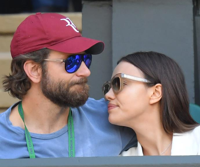 Brad and Irina frequently look loved up when they're out and about.