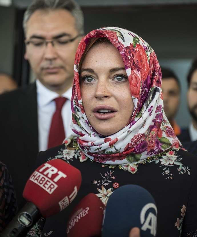In September, Lindsay visited Turkey to meet Syrian refugees, and is said to working to provide refugee camps with energy drinks.