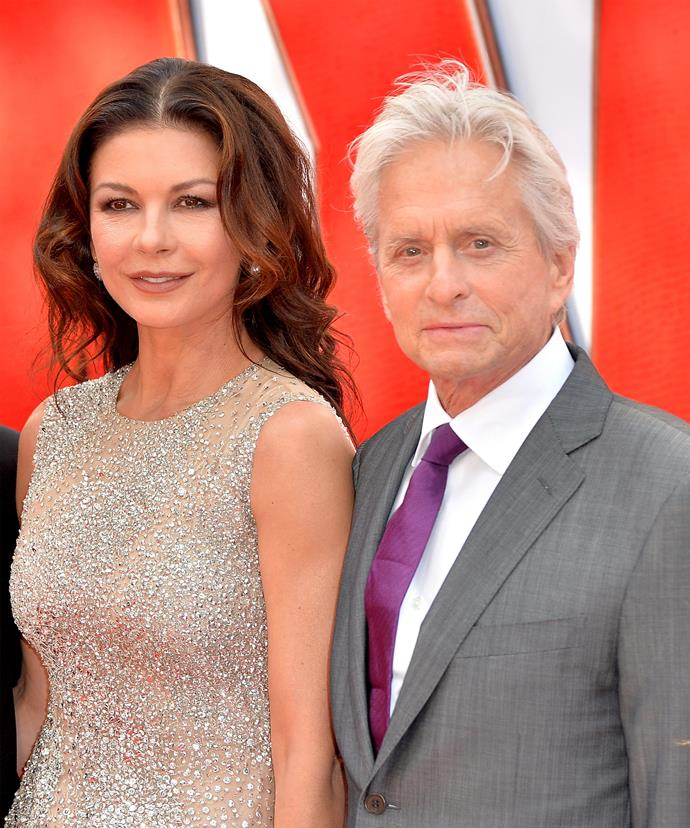 Catherine Zeta-Jones helped her husband through his own throat cancer diagnosis.