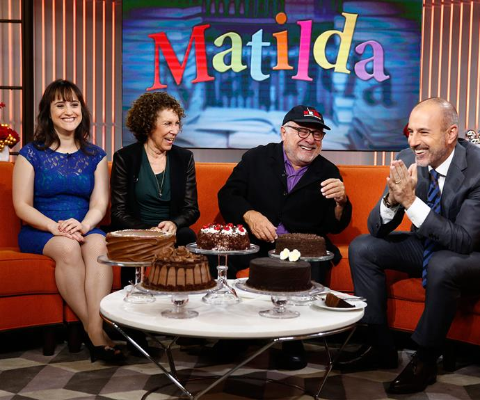 In 2013 *Matilda* castmates Mara Wilson, Rhea Perlman, Danny Devito chatted to Matt Lauer on *Today USA*.