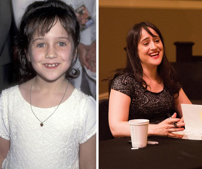Then and now: Mara still has her trademark smile.