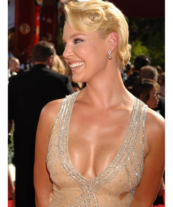 Sweat doesn't just hit in common areas. Just ask Katherine Heigl...