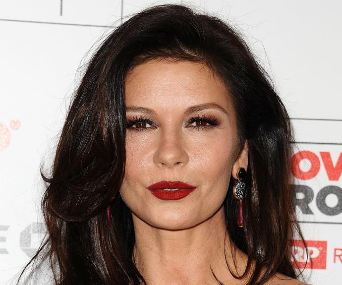 "Catherine Zeta-Jones swears by her own peculiar hair concoction. ""I do condition my hair with honey and beer,"" she told *The Daily Mail.* ""I smell like the bottom of a beer barrel for days afterwards but it's very good for the hair."""