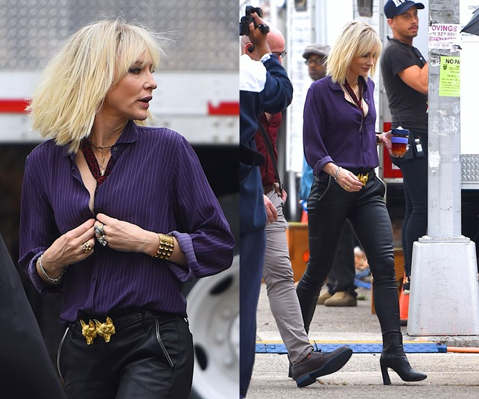 Cate's Ocean's 8 character sports a rocker look for the upcoming film.