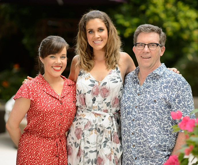 "Georgia, pictured with her sister and father, is urging all well-wishers to make a donation to [Pancare](https://www.pancare.org.au/attend-event/chance-dine-bachelorette-boys/|target=""_blank"")"