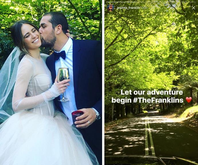 From kissing the bride to riding off into the sunset... The Franklins certainly have had a magical few days!
