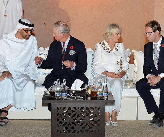 Night two of the royal tour capped off with a reception drinks at Al Jahili Fort.