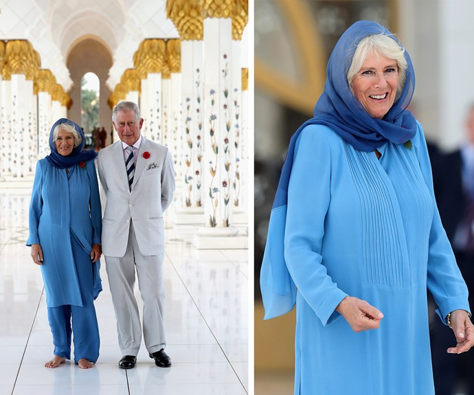 The royal couple were blown away by the incredible architecture as they were given a tour of the landmark.