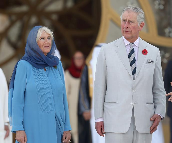 The Duchess and The Prince of Wales take a moment to soak it all up.