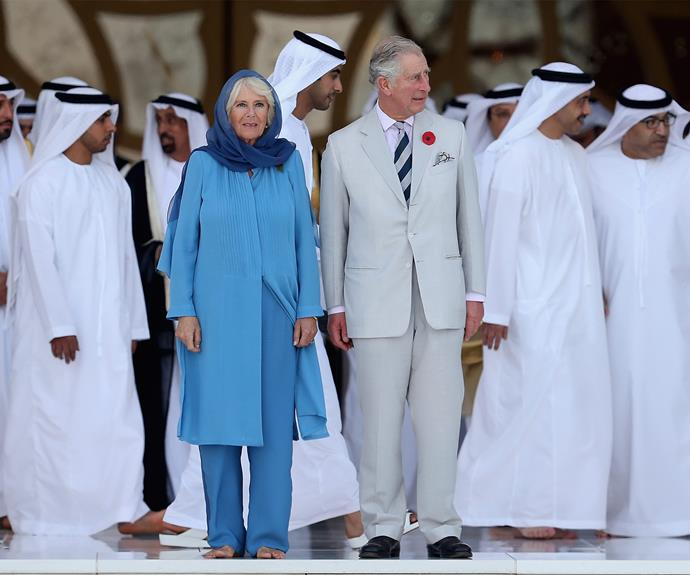 """""""For me, the visit is for recognition. The prince was able to speak to us and see the mutual tolerance which is reality in this country,"""" Sheikha Lubna said of the hosting the couple."""