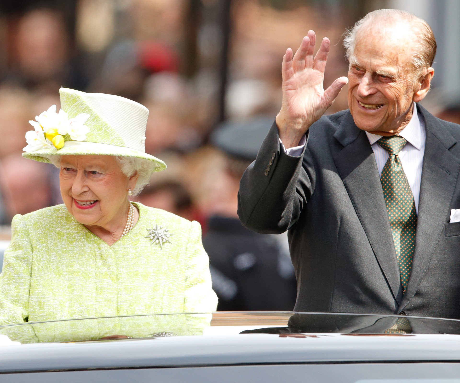 The pair were as merry as can be during Queen Elizabeth's 90th birthday celebrations in 2016.